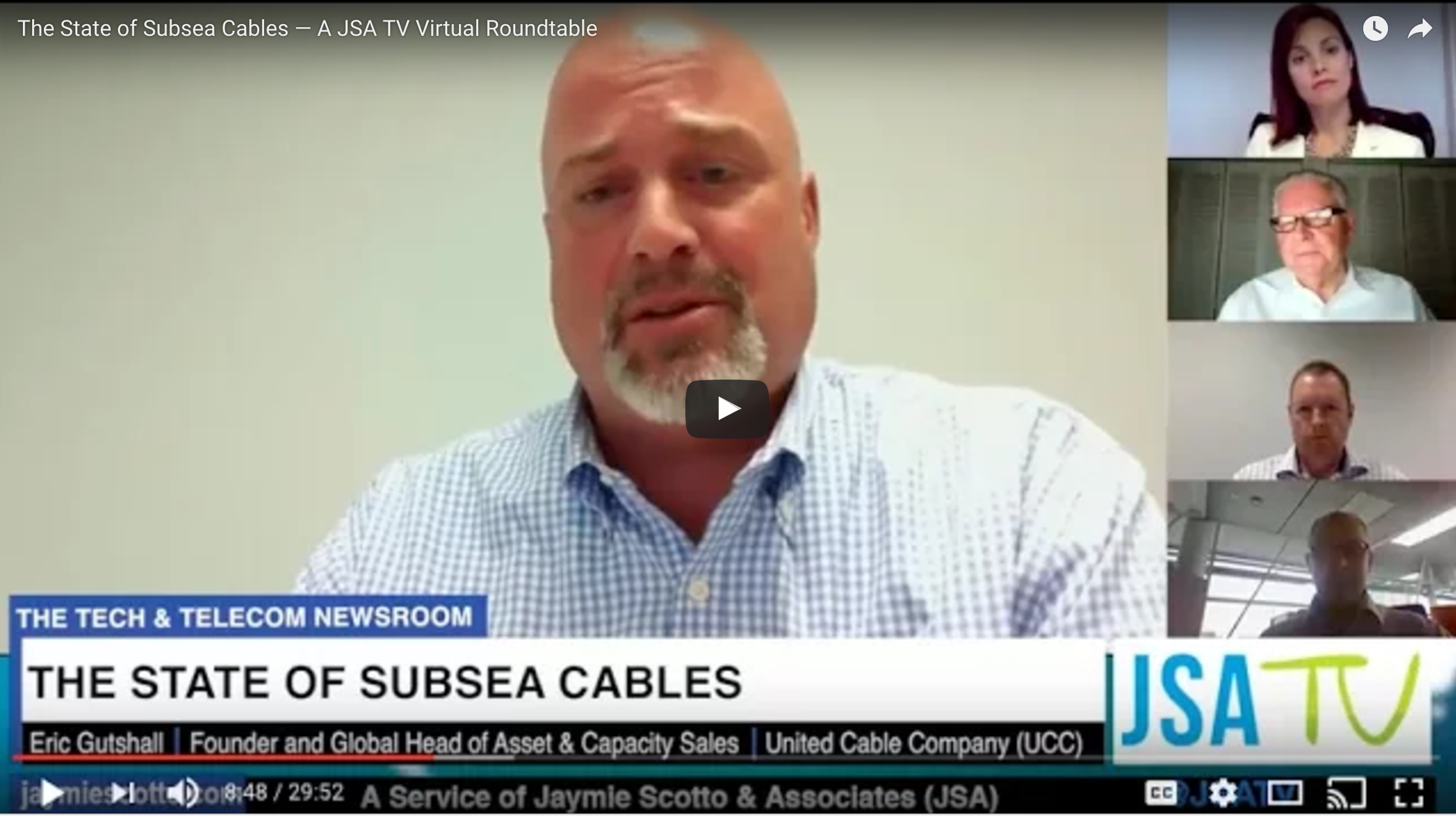 Eric Gutshall of UCC Moderates a Roundtable on the State of Subsea Cables
